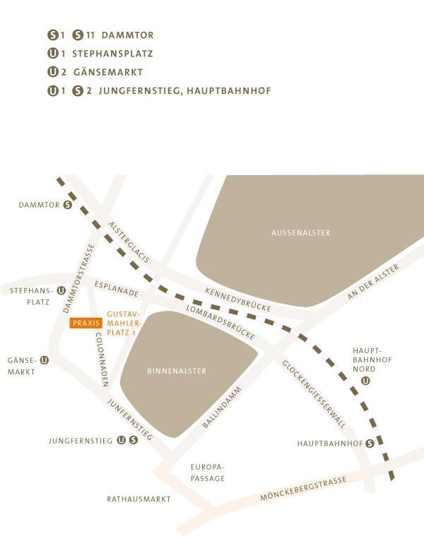 Anfahrt Dres. Kleier & Schlieper Osdorf